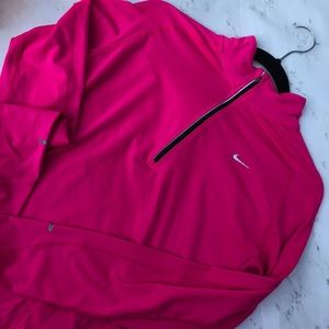 Nike dri fit 1/2 zip long sleeve pullover